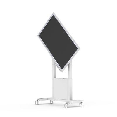 Mobiler mot. Wagen für Samsung Flipster weiss