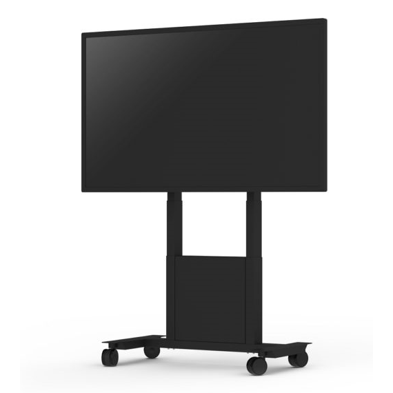 SIGNAMEDIA Digital Signage Monitor Rollwagen, Quelle: SMS Smart Media Solutions AB, 131 30 Nacka, Schweden