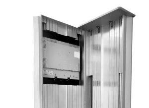 Gehäuse der SIGNAMEDIA Digital Kiosk Stele
