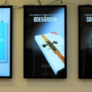 SIGNAMEDIA Digital Signage Monitore, Quelle: DigiKiosk ApS, 7190 Billund, Dänemark