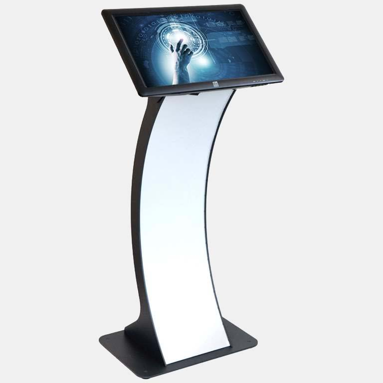 SIGNAMEDIA Digital Kiosk Touch-Pult als ideales Anwendungssystem für Umfragen-Terminals mit internet-basierter Umfragesoftware