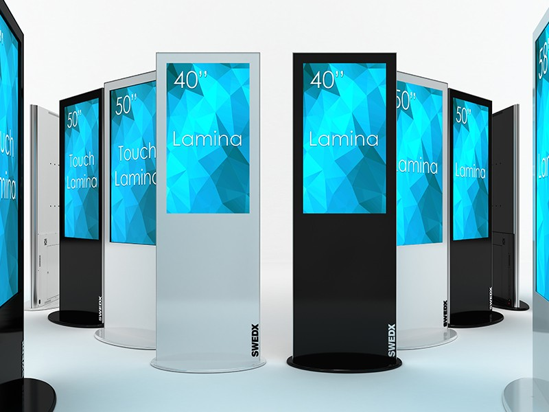 Digital Signage Stelen 28 - 58 Zoll von SIGNAMEDIA als Mietsysteme auf Leasing-Basis