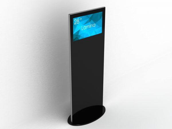 SIGNAMEDIA Digital Signage Stele 28 Zoll 4k schwarz