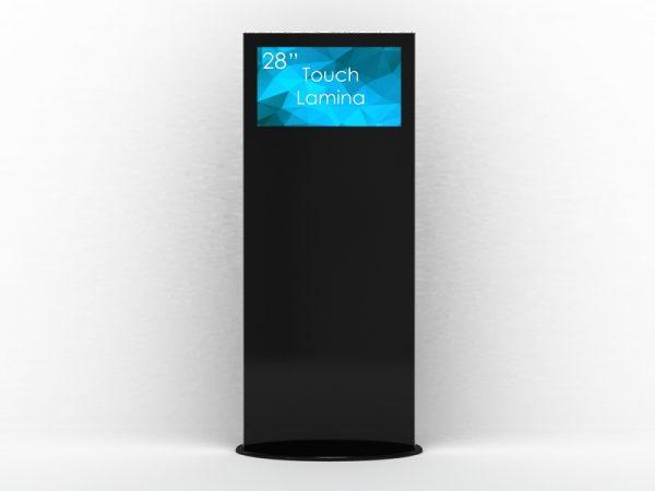SIGNAMEDIA Digital Signage Stele 28 Zoll touch 4k schwarz