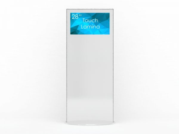 SIGNAMEDIA Digital Signage Stele 28 Zoll touch 4k weiß