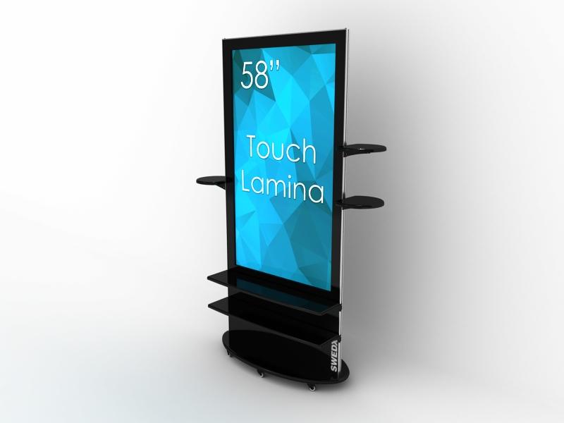SIGNAMEDIA Digital Signage Stele 58 Zoll 4k touch schwarz