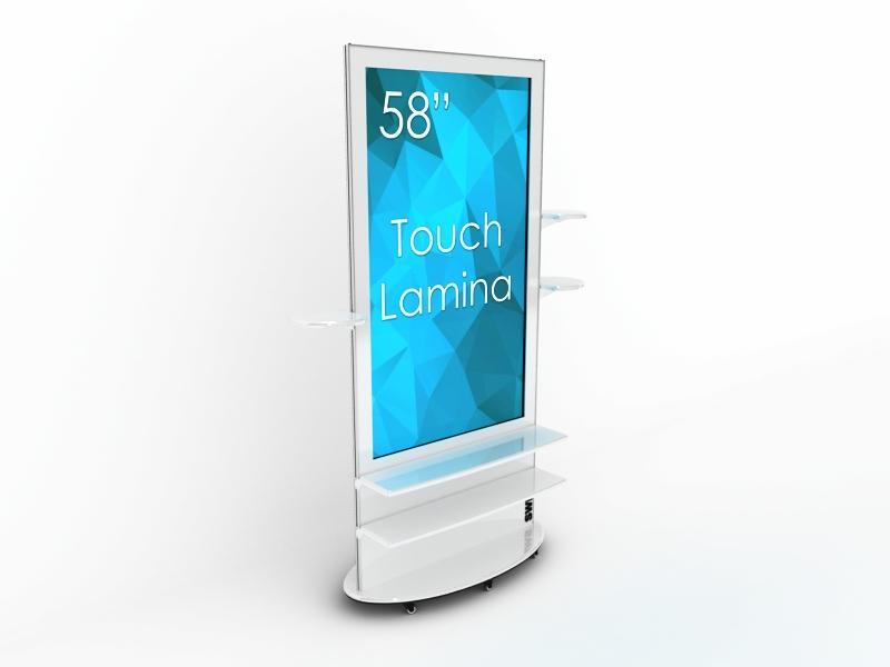 SIGNAMEDIA Digital Signage Stele 58 Zoll 4k touch weiß