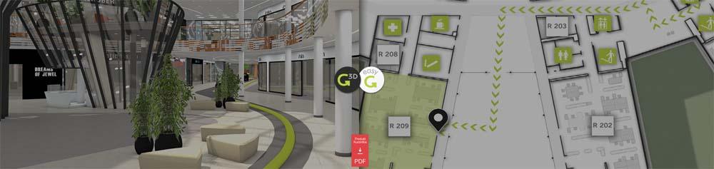 Digitale Wegeleitsysteme und Wayfinding Lösungen von 3d-berlin