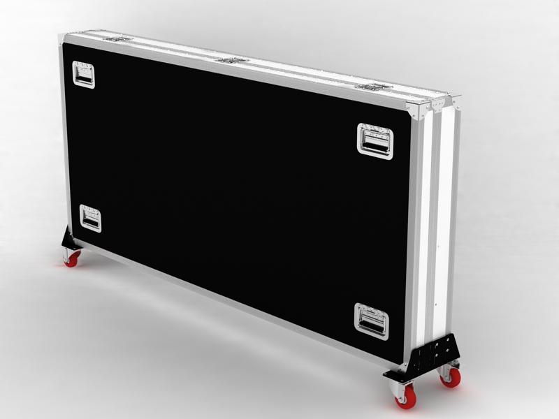 Transportkoffer als Accessoires Digital Signage Stele