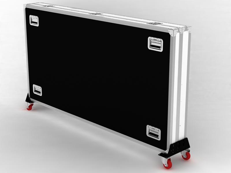 Transportkoffer als Accessoires für Digital Signage Stele