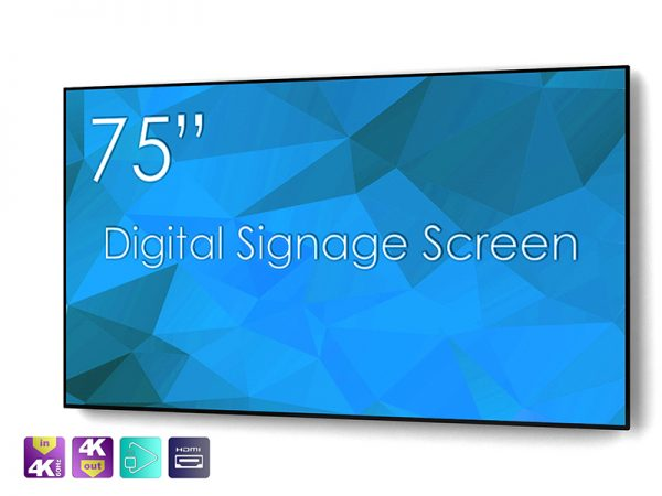 SIGNAMEDIA Digital Signage Monitor 75 Zoll natives-4k, Quelle: SWEDX AB, 16353 Spånga, Schweden