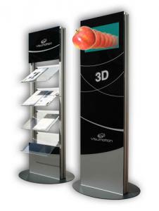 SIGNAMEDIA Digitaler interaktiver Prospektständer - 3D-Darstellung