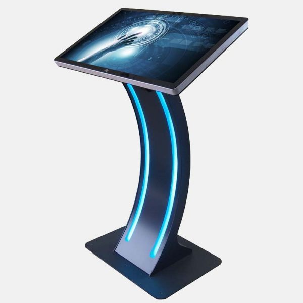 SIGNAMEDIA Digital Kiosk Touch-Pult mit programmierbarer LED-Beleuchtung, Quelle: WES Systeme Electronic GmbH, 61130 Nidderau, Deutschland