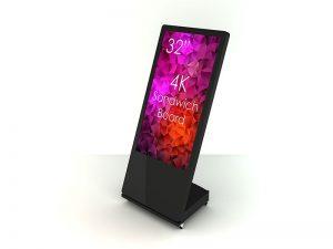SIGNAMEDIA Digitaler Kundenstopper 32 Zoll schwarz