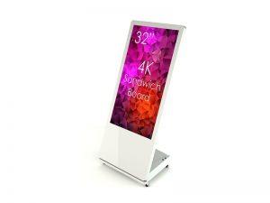 SIGNAMEDIA Digitaler Kundenstopper 32 Zoll weiß