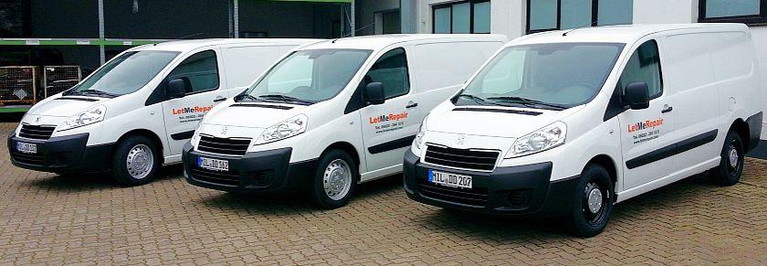 Service-Fahrzeuge von LetMeRepair