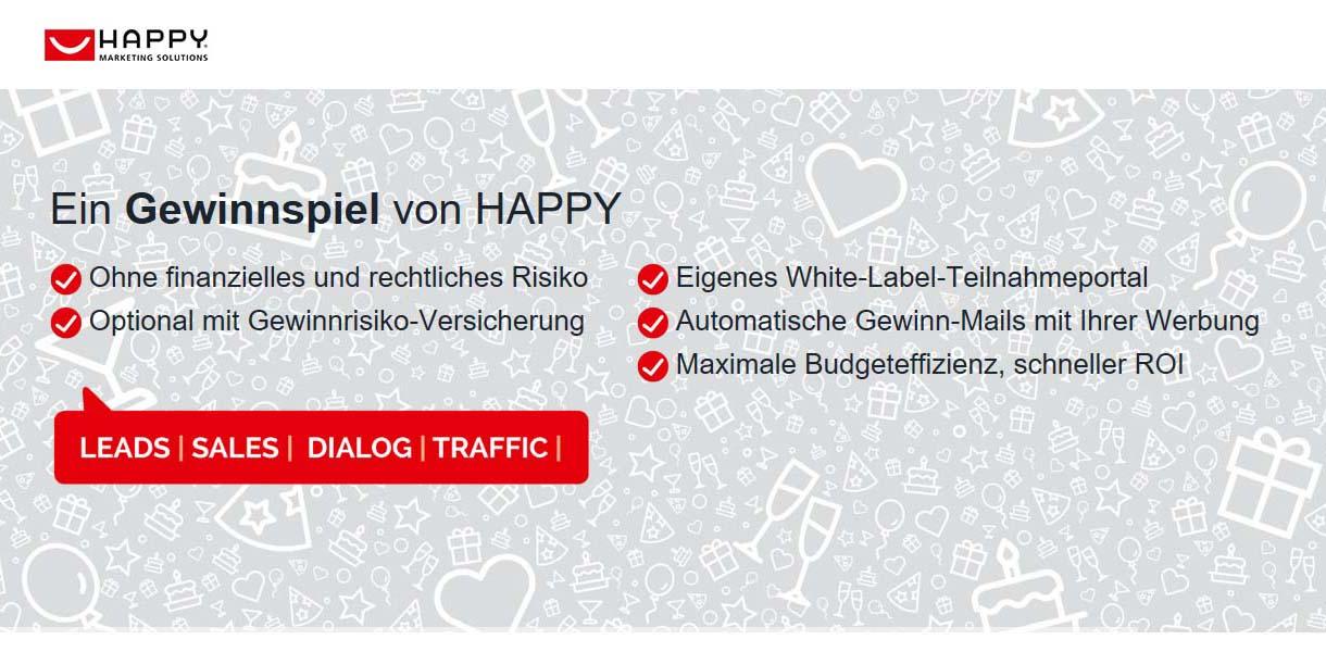 Screenshot von HAPPY Marketing Solutions