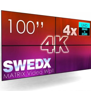 SIGNAMEDIA Digital Signage Video Wall 100 Zoll, Quelle: SWEDX AB, 16353 Spånga, Schweden