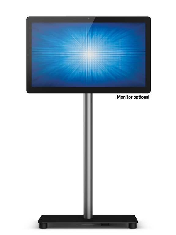 SIGNAMEDIA Touchscreen-Computer Floor Stand, Quelle: Elo Touch Solutions, Inc., Milpitas, California 95035, USA