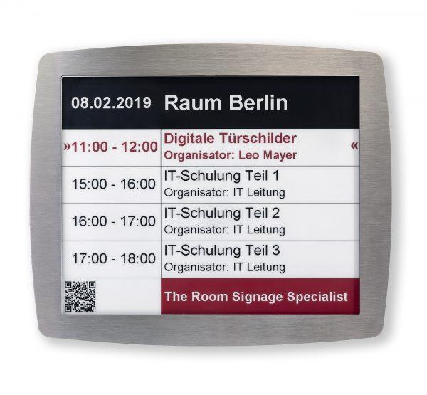 SIGNAMEDIA Digitales Türschild 12-Zoll SWR, Quelle: Kindermann GmbH, 97246 Eibelstadt, Deutschland