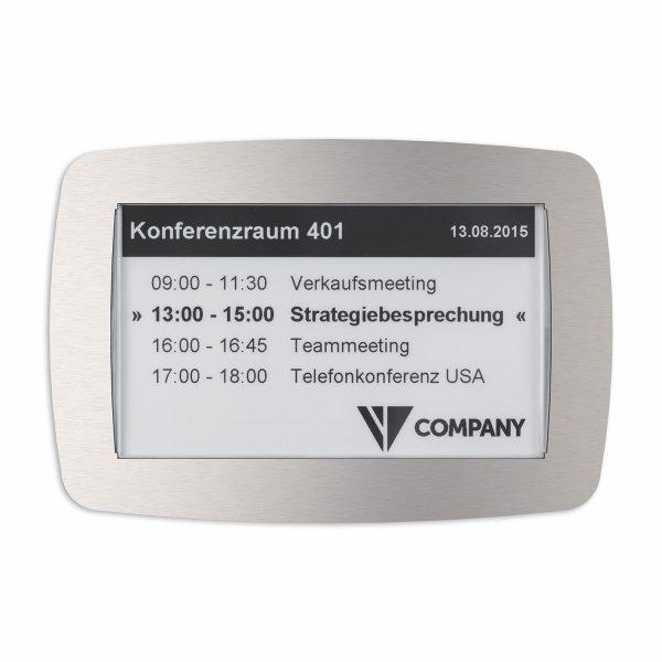 SIGNAMEDIA Digitales Türschild 7-Zoll SW, Quelle: Kindermann GmbH, 97246 Eibelstadt, Deutschland