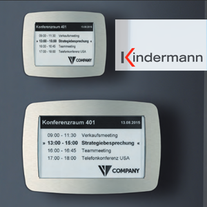 Kindermann - Türschilder mit patentierter e-Ink Technologie