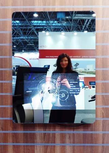 SIGNAMEDIA Digital Signage Spiegel - Wandsystem, Quelle: WES Systeme Electronic GmbH, 61130 Nidderau, Deutschland