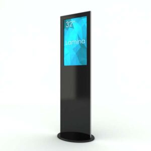 SIGNAMEDIA Digitale Infostele zur Patienten-, Besucher- und Kundeninformation in schwarz