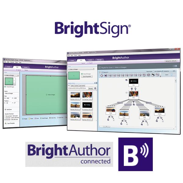 SIGNAMEDIA Digital Signage Software, Quelle: BrightSign LLC, Los Gatos, California, USA